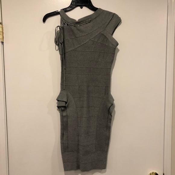 Herve Leger Dresses & Skirts - Herve Leger stretch bandage grey dress